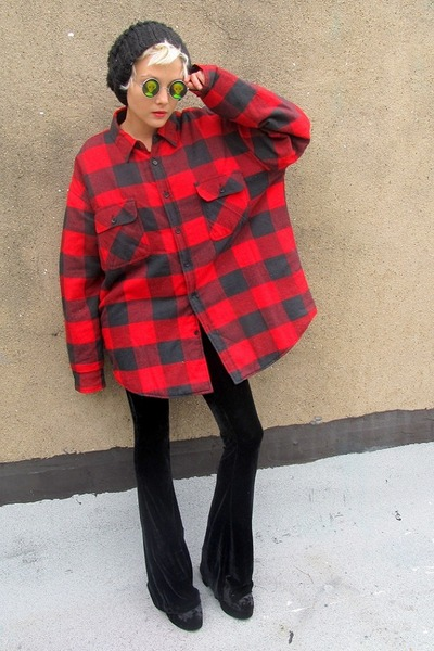 red flannel some velvet vintage shirt