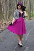deep purple Vedette intimate - purple Target hat - magenta thrifted skirt