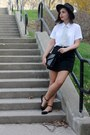 Black-thrifted-scarf-white-thrifted-blouse-black-thrifted-skirt