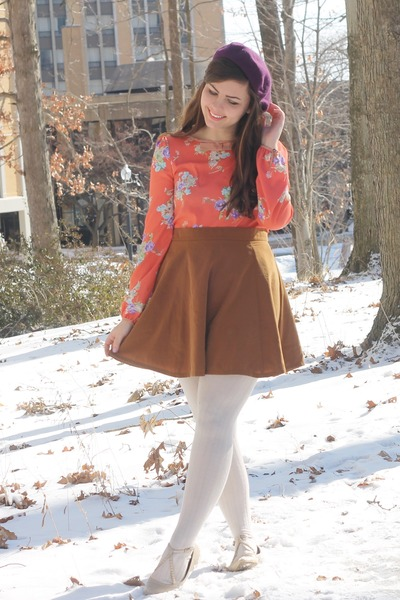 orange Moonlight dress - purple Target hat - bronze Forever21 skirt