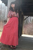 salmon Forever21 dress