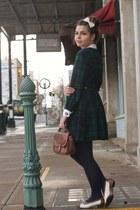 vintage dress - thrifted purse - vintage heels