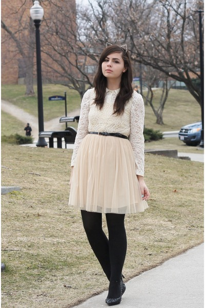 neutral modcloth dress - black TJ Maxx heels