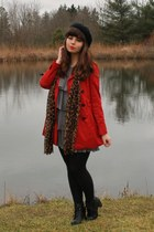 heather gray modcloth dress - brick red Forever 21 jacket