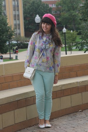 pink Target hat - light blue Charlotte Russe pants - beige Forever21 flats