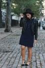 Navy-tj-maxx-dress-black-h-m-jacket