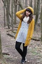mustard Target hat - white H&M dress - black Charlotte Russe flats