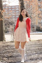 eggshell Dahlia dress - red Old Navy cardigan