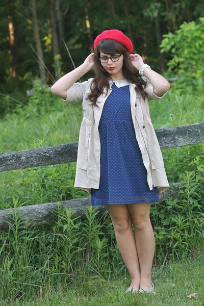 navy modcloth dress - ruby red Target hat