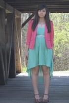 Lulus dress - thrifted blazer - Forever21 heels