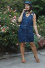 Navy-thrifted-dress-navy-thrifted-hat-neutral-thrifted-vintage-scarf