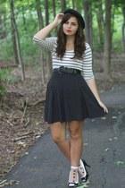white storets socks - black thrifted dress - white Forever21 dress