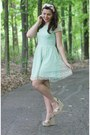 aquamarine delias dress - tan LuLus wedges