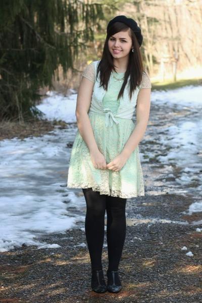 aquamarine delias dress - aquamarine thrifted blouse