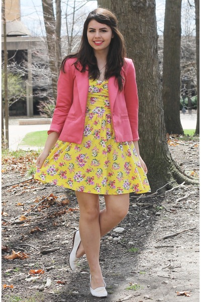 yellow Aeropostale dress - bubble gum thrifted blazer