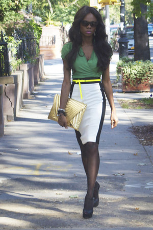 white pencil skirt Zara skirt - mary janes Giuseppe Zanotti heels