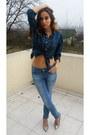 Sky-blue-pull-bear-jeans-silver-random-brand-heels-teal-new-yorker-blouse