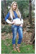 H&M coat - Pull & Bear jeans - H&M shirt - H&M bag - Levis belt