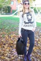 Dr Martens boots - met jeans - Zara bag - Stradivarius sunglasses