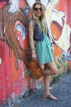 Zara vest - Pull & Bear dress - thrifted bag - H&M sunglasses - H&M flats