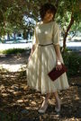 Vintage-dress-vintage-belt-vintage-purse-cathy-jean-shoes