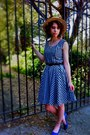 Gingham-vintage-rothschild-dress-gingham-straw-vintage-hat-wayfarer-ray-ban-