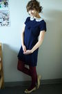 Vintage-dress-american-apparel-tights-vintage-shoes-vintage-accessories