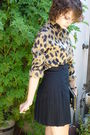 Vintage-top-black-american-apparel-skirt-armani-purse-blude-suede-shoes