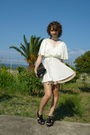 Vintage-dress-american-apparel-skirt-black-bakers-shoes-black-vintage-purs