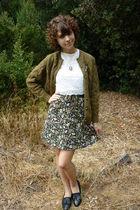 vintage cardigan - vintage top - vintage skirt - vintage shoes - vintage accesso