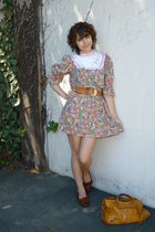 vintage dress - vintage belt - vintage shoes - vintage accessories - balenciaga