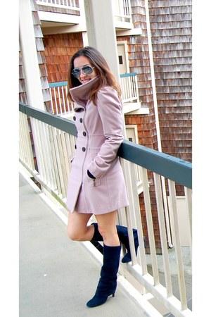 bubble gum Bebe coat - navy ASH boots