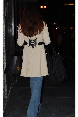 Bebe coat - Steve Madden shoes