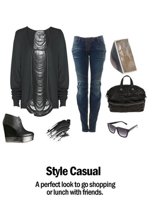acne boots - sass & bide top - Balmain jeans - Givenchy accessories - Barneys Ne