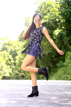 Lets Stylize top - Forever 21 boots - Lets Stylize shorts