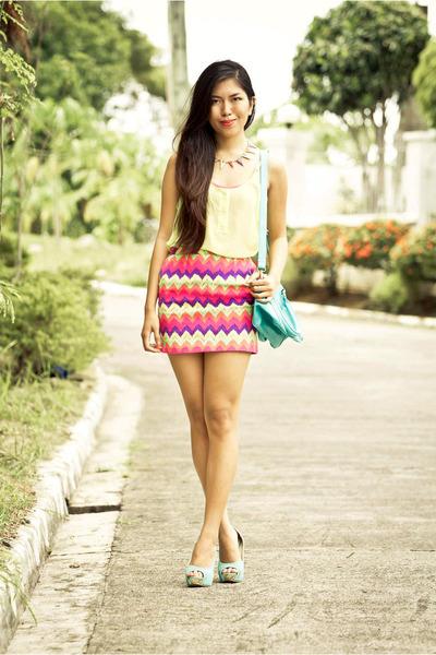 Parisian bag - Parisian heels - lets stylize skirt