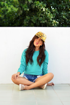 H&M shoes - H&M hat - H&M top