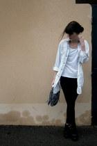 black sam edelman boots - periwinkle Zara blouse