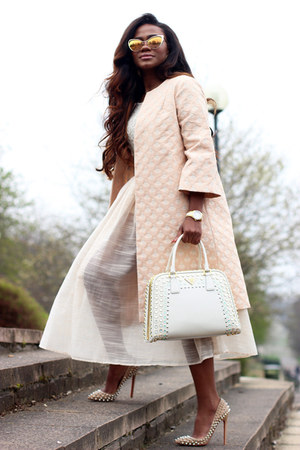 vivianchan coat - Christian Louboutin shoes - Tom Ford sunglasses - Zara blouse
