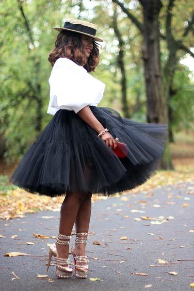 asos skirt - Alexander McQueen bag - Christian Louboutin heels