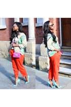 Christian Louboutin heels - Zara shirt - Resis bag - Prada sunglasses