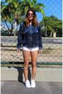 Blue-jeans-adidas-jacket-white-zara-shorts-white-adidas-sneakers