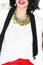 White-zara-blazer-black-victor-hugo-bag-yellow-dame-jolie-necklace