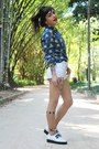 White-melissa-shoes-blue-print-choies-shirt-white-ripped-zimpy-shorts