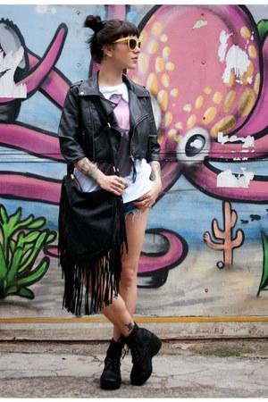 loved bolsas bag - c&a jacket - Marisa shirt - Zara shorts