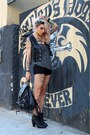 Black-faux-leather-c-a-bag-charcoal-gray-fyi-top-black-leather-bluxo-vest
