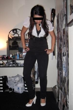 Charlotte Russe shirt - belt - forever 21 jeans