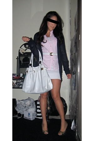 Forever21 jacket - abercrombie and fitch shirt - pinkzone dress - forever 21 pur