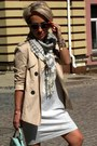 Silver-zara-dress-beige-stradivarius-jacket-light-blue-accessorize-purse