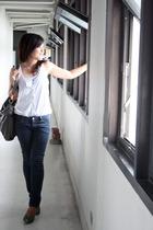 H&M top - Old Navy top - bangkok jeans - Lalanta shoes